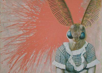Mit Paula chatten • 2016, Acryl auf Leinwand, 60 x 50 cm