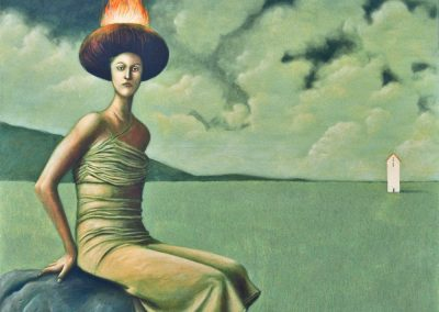 Auf meinem Weg kam ich an Maras Haus vorbei • 1998, Acryl auf Leinwand, 150 x 120 cm