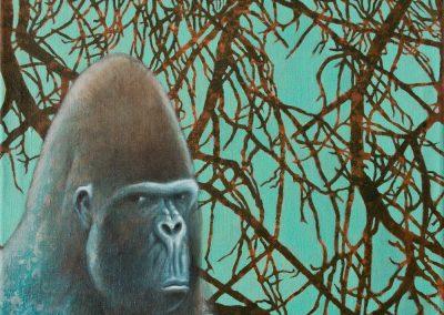 Aus gespannter Ruhe • 2005, Acryl auf Leinwand, 50 x 60 cm