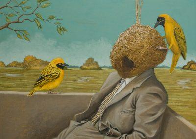 Birdman • 2015, Acryl auf Leinwand, 80 x 100 cm