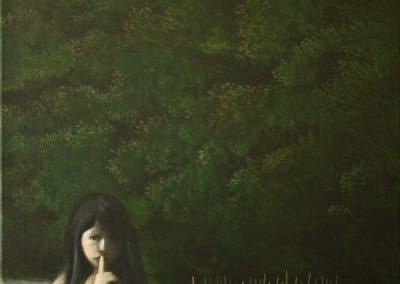 Der zweite Mond • 2013, Acryl auf Leinwand, 80 x 60 cm