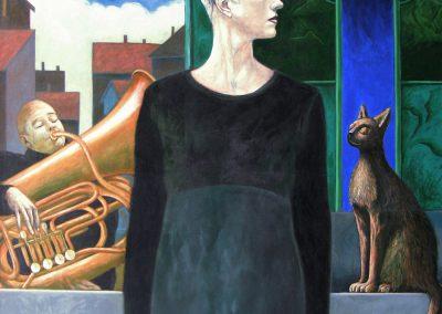 Die Musik des Jokers • 1996, Acryl auf Leinwand, 170 x 130 cm