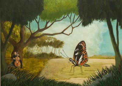 Die gelbe Zeit II • 2019, Acryl auf Leinwand, 80 x 100 cm