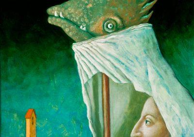 Die späte Rache • 1996, Acryl auf Holz, 48 x 40 cm