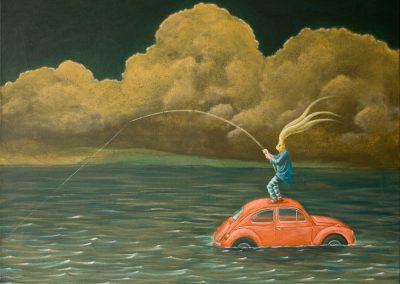 Eine Stunde auf Reserve • 2012, Acryl auf Leinwand, 60 x 80 cm