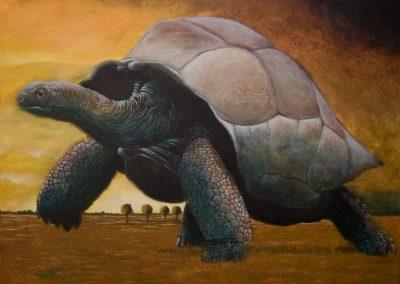 Es ist gestern Nacht passiert • 2012, Acryl auf Leinwand, 100 x 120 cm