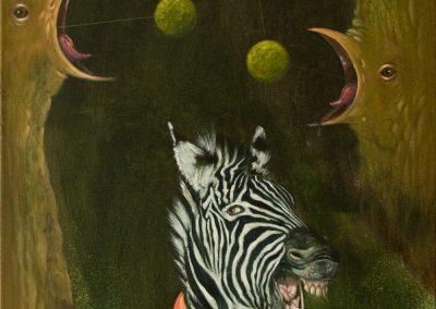 Immernoch • 2013, Acryl auf Leinwand, 100 x 50 cm