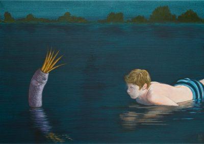 Nicht mal eine Sekunde • 2019, Acryl auf Leinwand, 80 x 100 cm