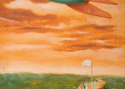 Rocket 54 • 2002, Acryl auf Holz, 90 x 60 cm
