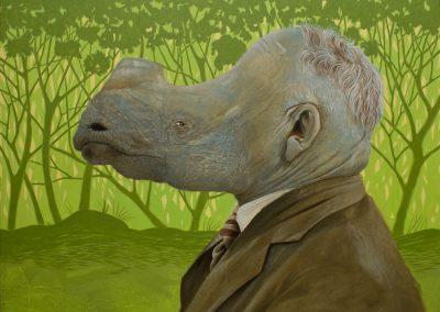 Scratch my neck• 2015, Acryl auf Leinwand, 120 x 150 cm