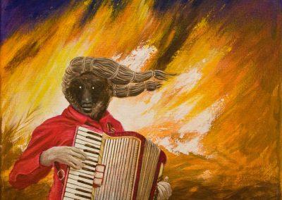Wenn die Musik besser wird • 2012, Acryl auf Leinwand, 50 x 50 cm