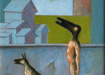Am Montag ist das Wasser trüb • 1995, Acryl auf Holz, 40 x 30 cm