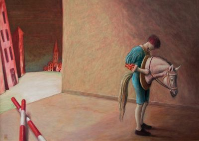 Bevor uns die Sonne küßt • 1994, Acryl auf Holz, 100 x 140 cm