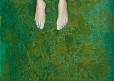 Das sind nicht Lucys Beine • 2001, Acryl auf Holz, 147 x 60 cm