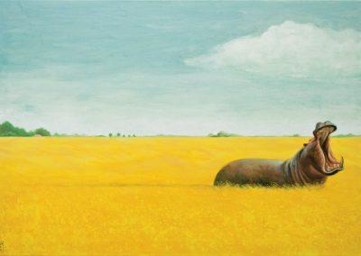 Eigentlich schon wieder cool • 2004, Acryl auf Leinwand, 80 x 100 cm