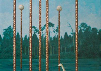 Eine Welt für Mandura • 2000, Acryl auf Holz, 140 x 100 cm