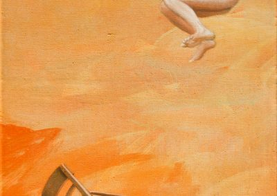Jenseits der Welt • 2003, Acryl auf Leinwand, 80 x 40 cm