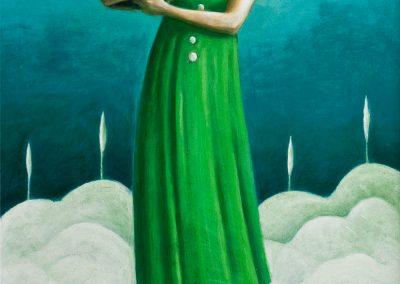 Kein Heim nirgends • 1997, Acryl auf Holz, 84 x 50 cm
