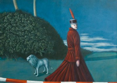 Niemand nennt ihn Leon • 1999, Acryl auf Leinwand, 114 x 110 cm