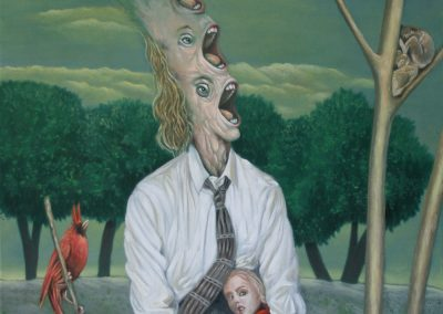 Schrei mal drei • 2007, Öl auf Leinwand, 100 x 80 cm